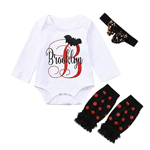 2a965fdd801565 Amazon.com  Lurryly❤Halloween Costumes Outfits Baby Girls Romper Leggings  Clothes Apparel Set 0-2T  Clothing