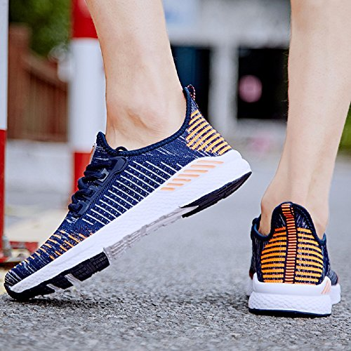 Shoes Sneakers Chaussures Sport Fitness Respirant Baskets Orange Légère Femme 40 NEOKER Homme Running wZCXXq0