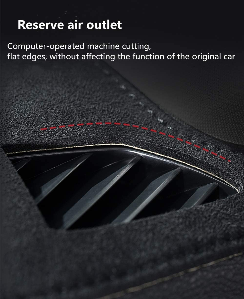Dashboard Cover for Jeep Grand Cherokee 2010-2019 Original Car Custom Dash Mat Anti Reflective Heat Resistant Dash Carpet Leather Black