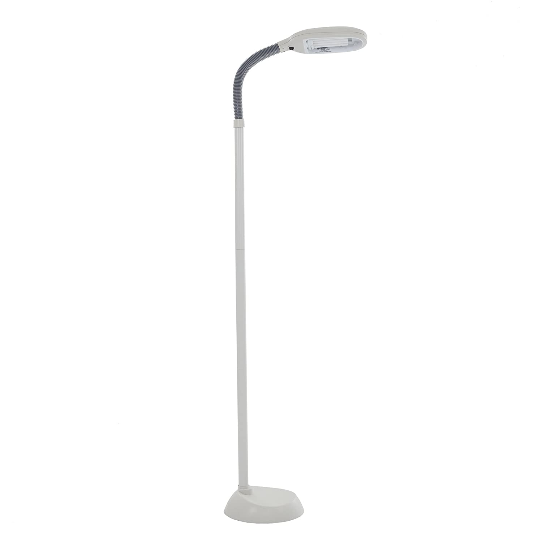 Lavish Home (72-6820) 6 Feet Sunlight Floor Lamp With Adjustable Gooseneck - White