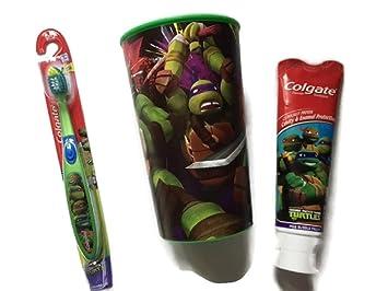 Amazon.com: TMNT cepillo para polvo de dientes Bundle taza ...