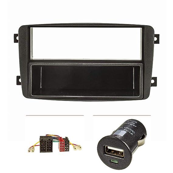 Embellecedor de radio (Set + USB-sobrealimentador) Mercedes C-Klasse W203 S203