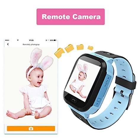 Kids Smartwatch, GPRS+LBS Location Tracker, Phone Watch, Camera Watch, Voice Chat, Phone Calls, Smart Gifts for Kids from 3-14 Years Old (blue): Amazon.com: ...