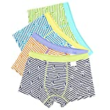 BOOPH Boys Underwear, Baby Toddler Striped Boxer Briefs Dog Print Underpant for Boy 8-9 Years (Pack of 4)