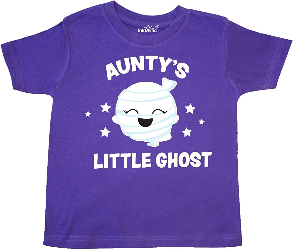 inktastic Cute Auntys Little Ghost with Stars Toddler T-Shirt