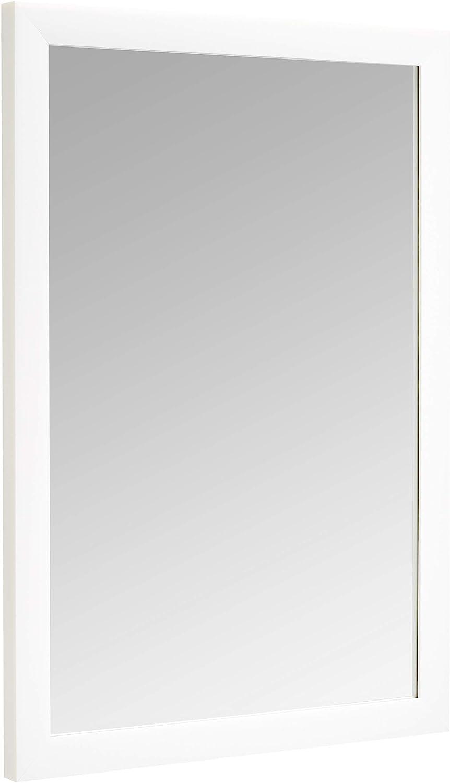 "AmazonBasics Rectangular Wall Mirror - 20"" x 28"", Standard Trim, White"