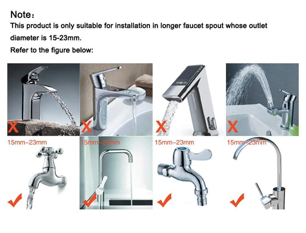 NB520 Kitchen Adjustable Water Saving Tap Faucet Sprayer Nozzle Filter 360/° Rotatable Tap Shower Anti Splash Water Economizer