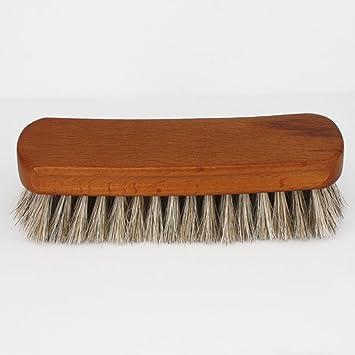 maikerry pelo de caballo 100% cepillo de crin para zapatos tamaño grande polvo cepillo para pulir para botas y zapatos cepillo de cerdas oscuro: Amazon.es: ...