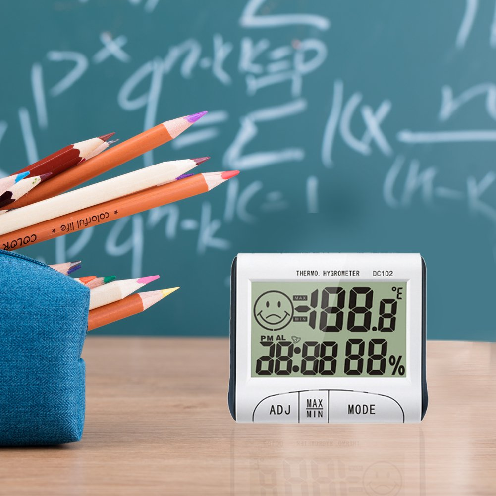 Amazon.com: UEB DC102 Digital LCD Thermometer Hygrometer Electronic ...