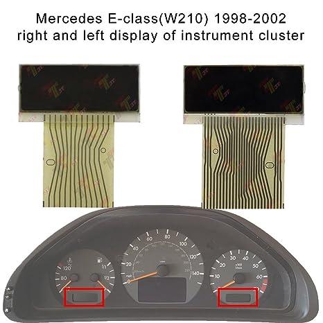 Allway Left + Right LCD Display Screen for Mercedes-Benz E-Class(W210)  C-Class (W202) CLK-Class (W208) SLK-Class (R170) Speedometer Instrument  Cluster