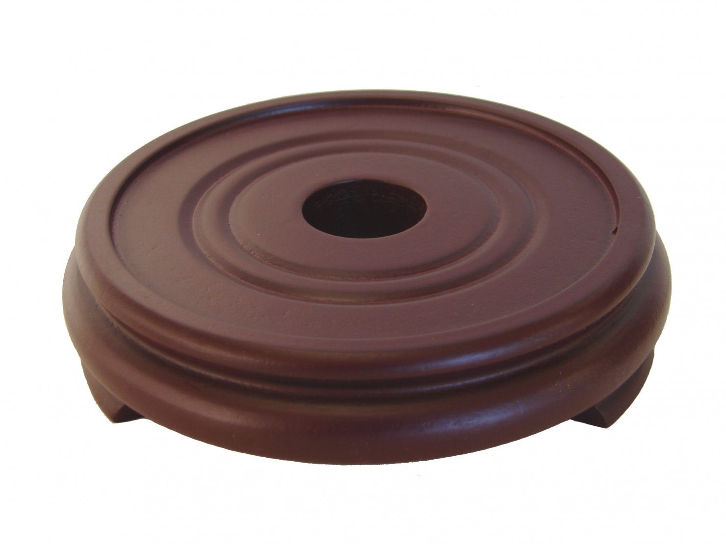 Feng Shui Import Rubber Finished Round Wooden Stand, Brown, 7 L