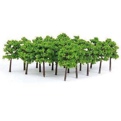 Amazon com: YBpineer 20Pcs Model Trees Train Scenery Landscape N