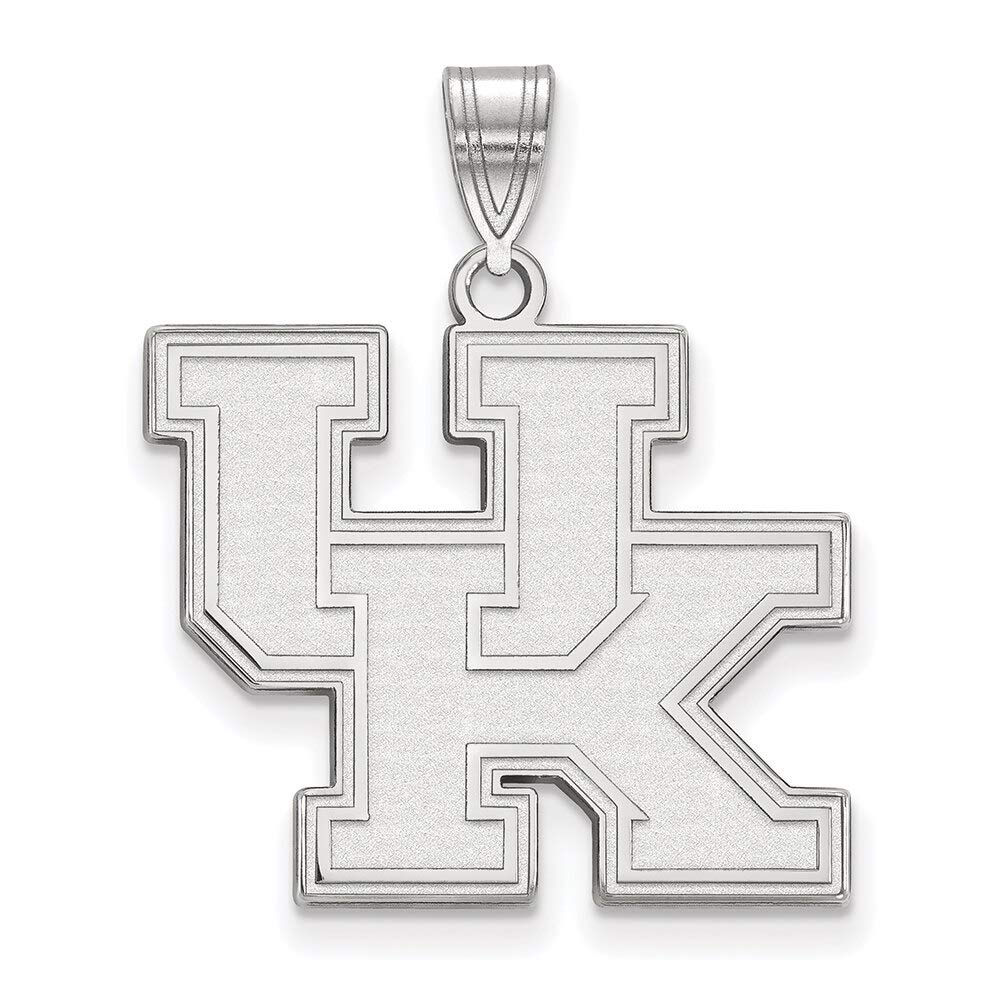 Lex /& Lu LogoArt 10k White Gold University of Kentucky Large Pendant LAL127975