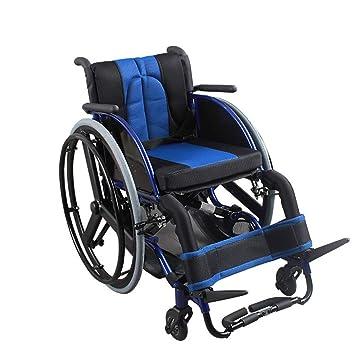 QETU Rueda Deportiva Rueda Trasera Plegable Ligera Aleación de Aluminio portátil Silla de Ruedas para discapacitados Ocio Deportivo Rueda Trasera de ...