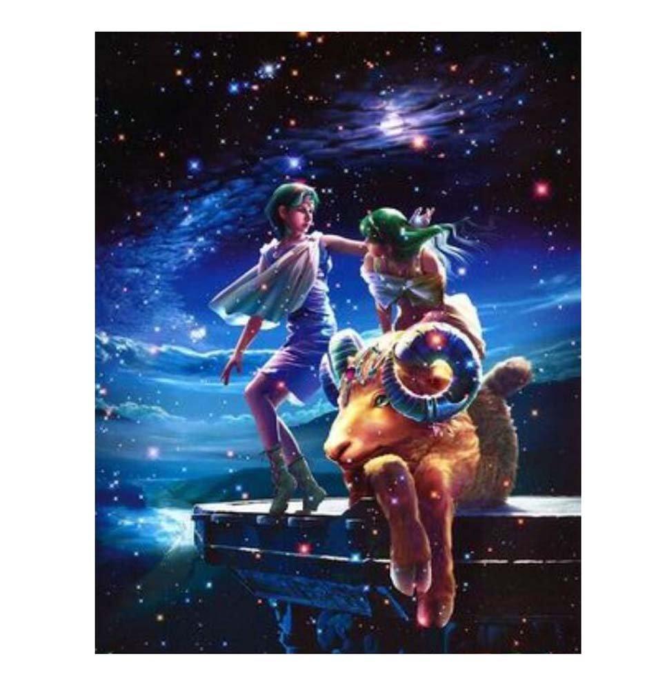 1000 piezas Clásico Hermoso 12 constelaciones de los niños rompecabezas- Capricornio Black Temptation
