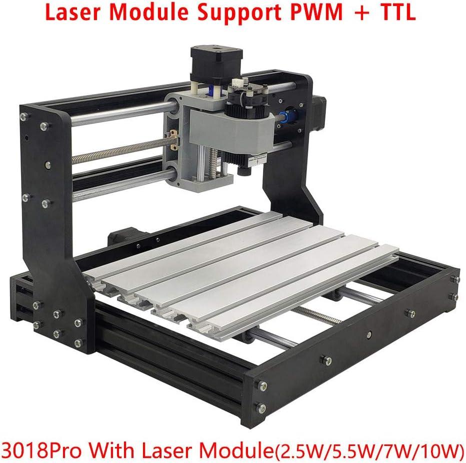 module de gravure de t/ête laser 100-240V avec lunettes de protection HUKOER Module laser bleu de contr/ôle 10W 445nm TTL PWM t/ête laser r/églable CC 12V