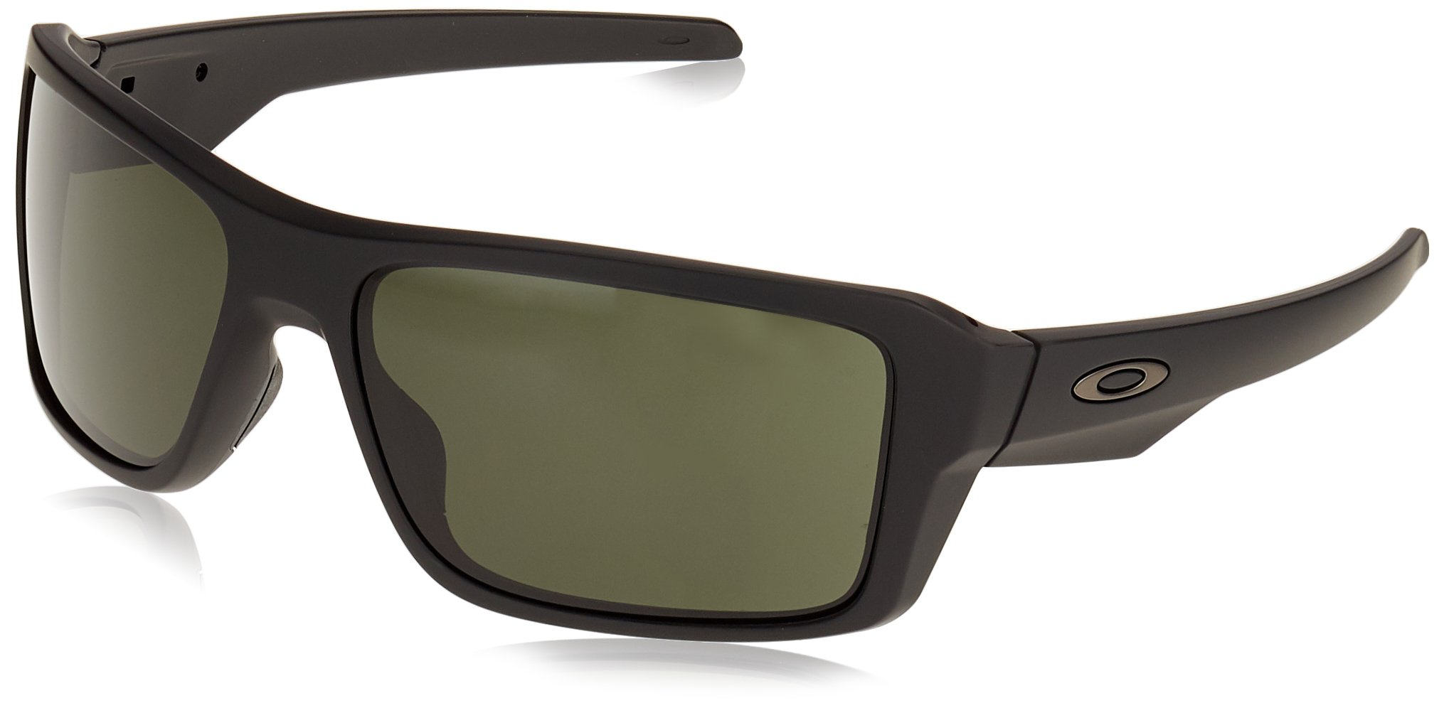 Oakley Men's Double Edge Rectangular Sunglasses MATTE BLACK 66.01 mm