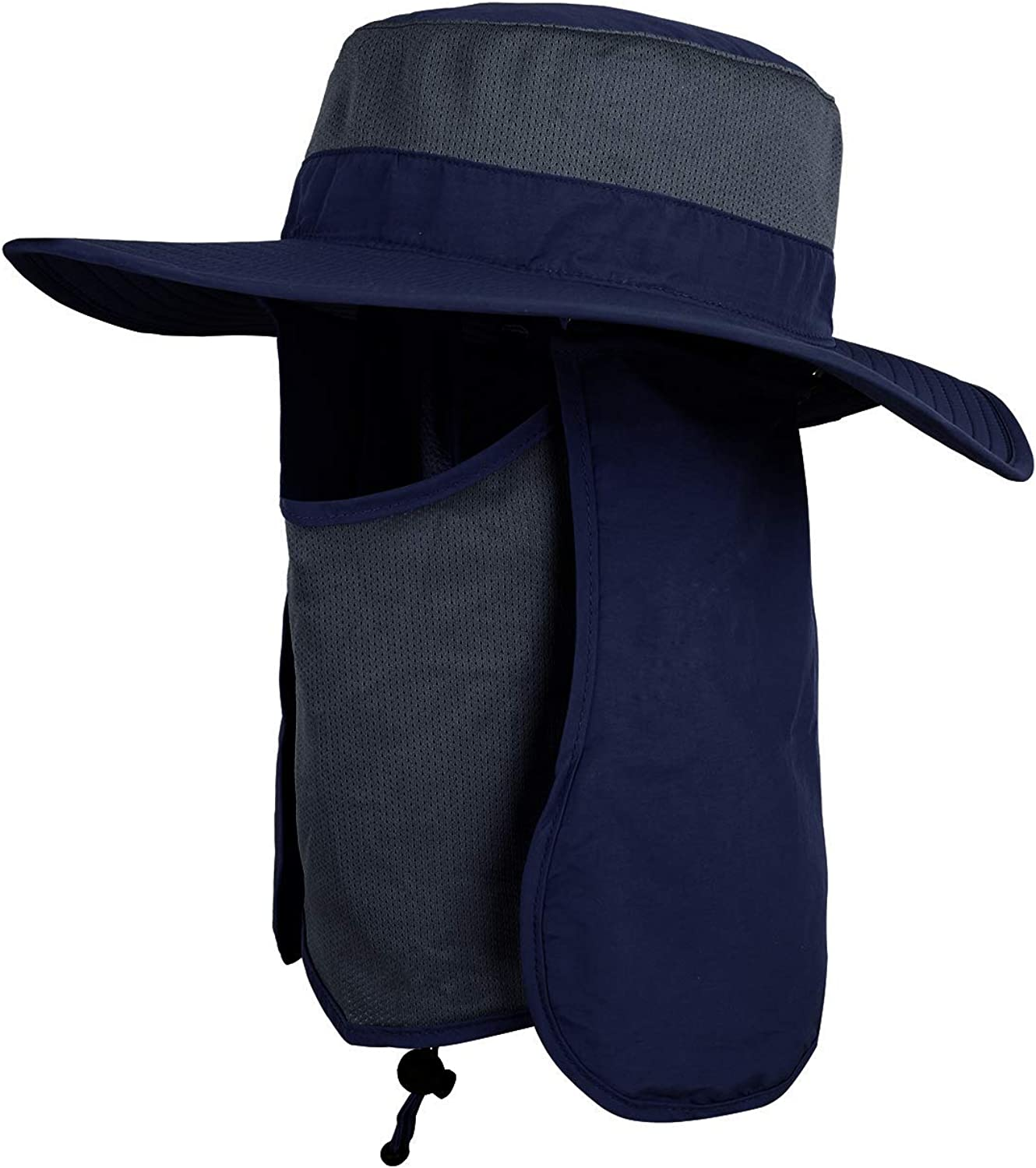 Orolay Unisex Outdoor Hats Wide Brim Sun Hat with Neck Flap Cover UPF 50+
