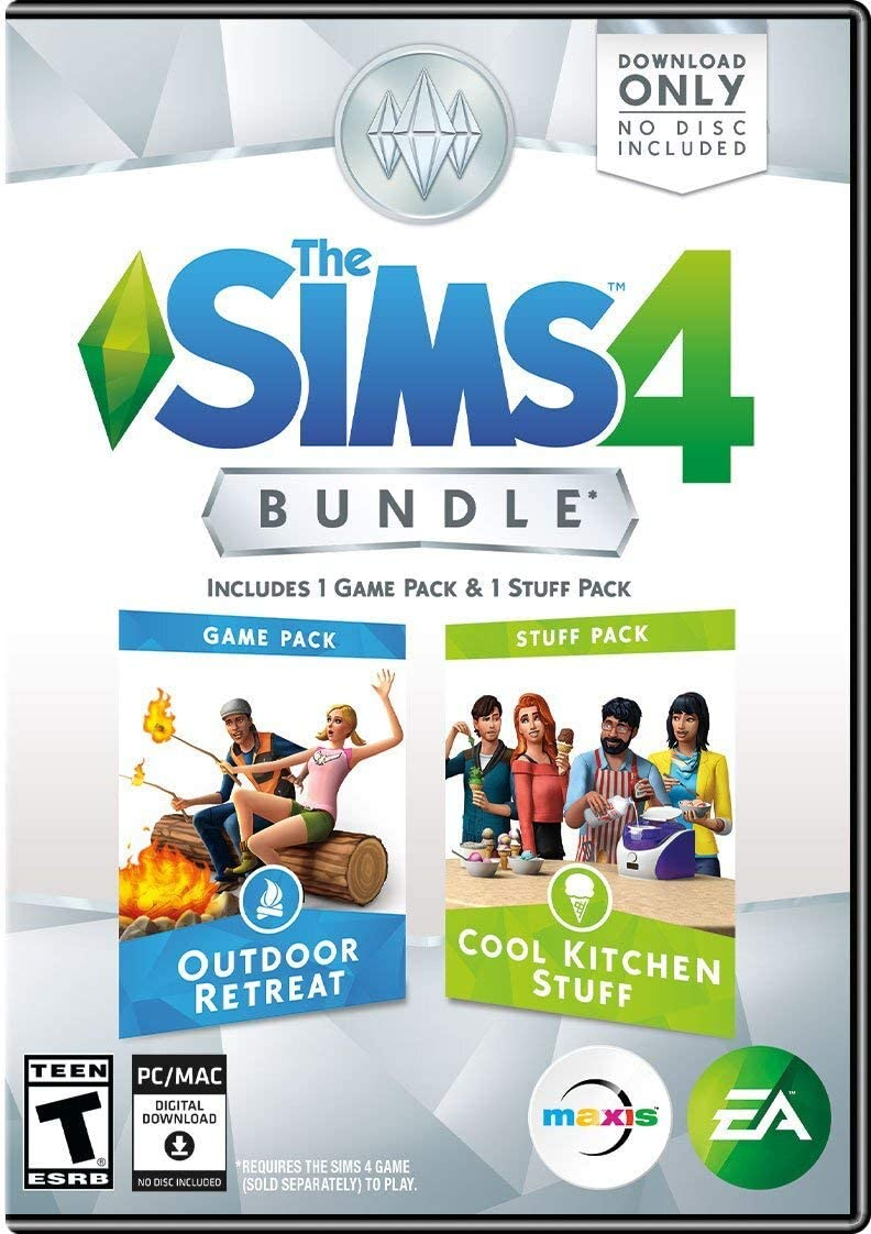 The Sims 4 Bundle Pack: Outdoor Retreat and Cool Kitchen Stuff ...