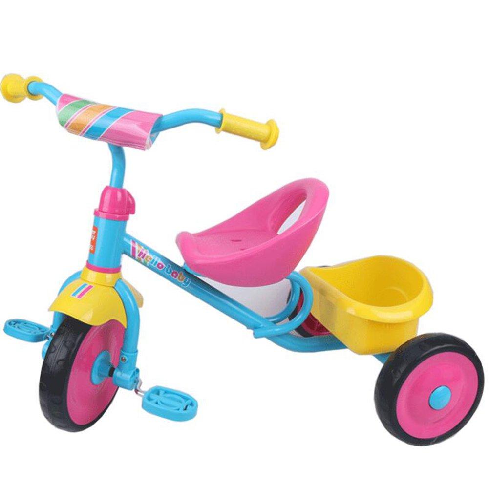 XQ 子供 軽量 EVA発泡ホイール 三輪車 1-3-5歳 子ども用自転車 ( 色 : Pink plus blue plus yellow ) B07C77J82ZPink plus blue plus yellow
