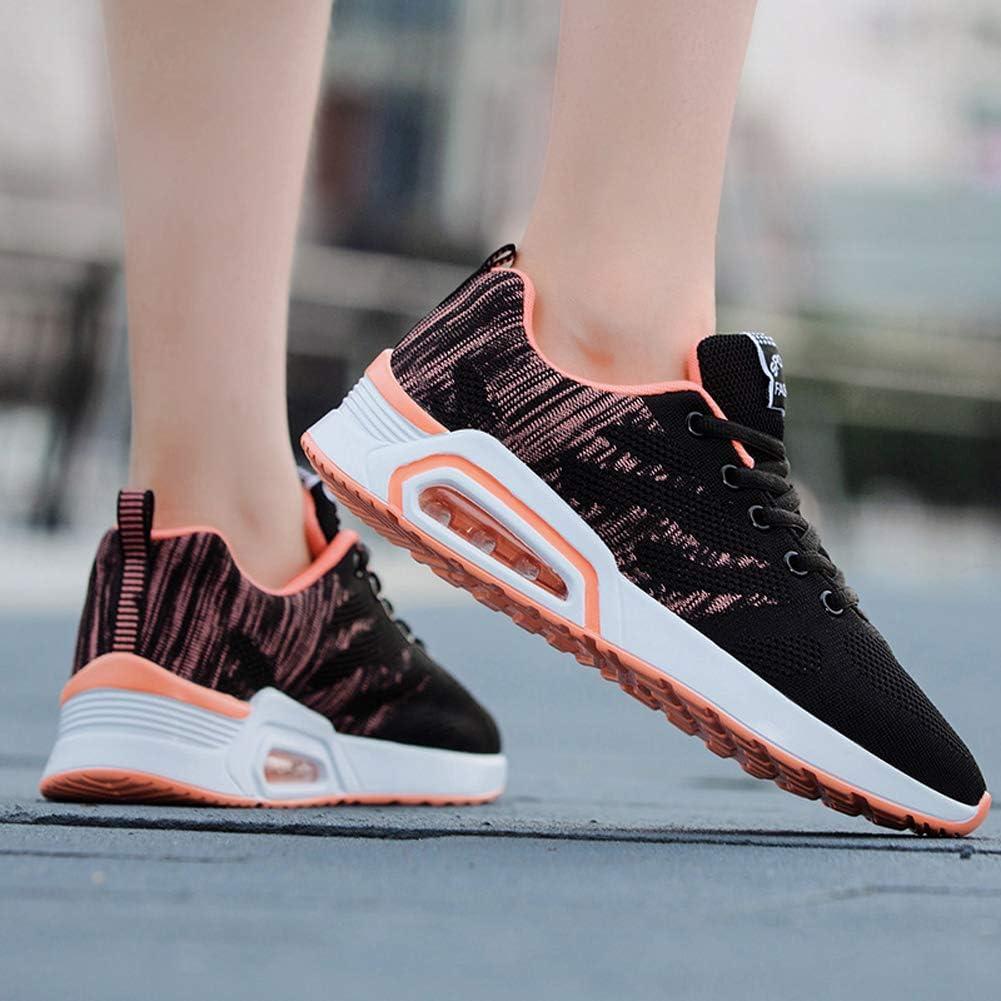 Zapatillas para Caminar Zapatillas de Deportivos de Running para Mujer Negro Azul Rosa 34-39 EU