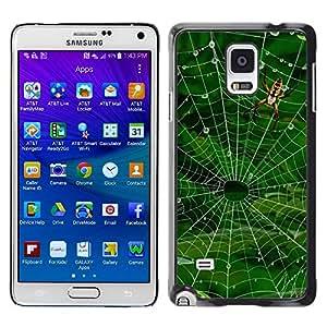 Caucho caso de Shell duro de la cubierta de accesorios de protección BY RAYDREAMMM - Samsung Galaxy Note 4 - Nature Spider Web
