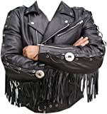 Classyak Western Style Moto Jacket, Quality Cowhide Leather, Xs-5xl