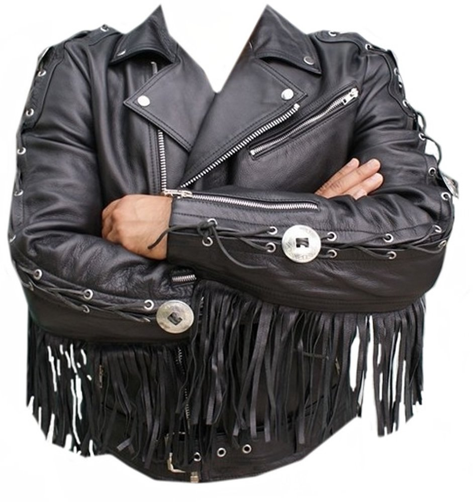 Classyak Western Style Moto Jacket, Quality Cowhide Leather, Xs-5xl (3X-Large)