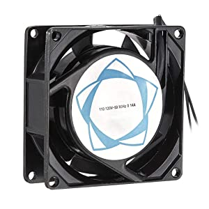 uxcell Cooling Fan 80mm x 80mm x 25mm SF8025 AC 110V/120V 0.14A Long Life Sleeve Bearings