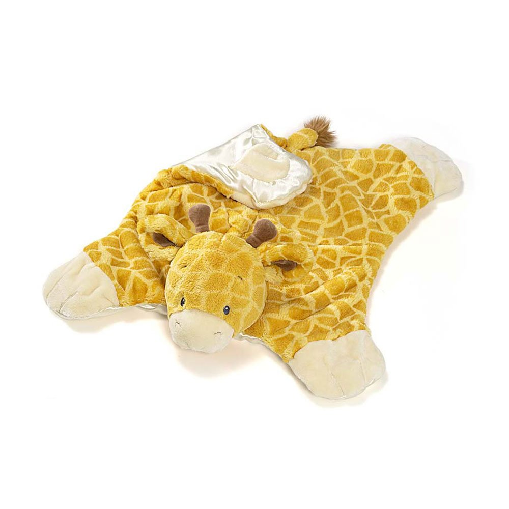 Gund Tucker Giraffe Comfy Cozy Baby Blanket Giraffe-print fabric feels silky and smooth against baby's skin, while a satin underside adds a dash of luxury detail and increased tactile sensation. It's the perfect place to spend tummy time or nap time baby gift
