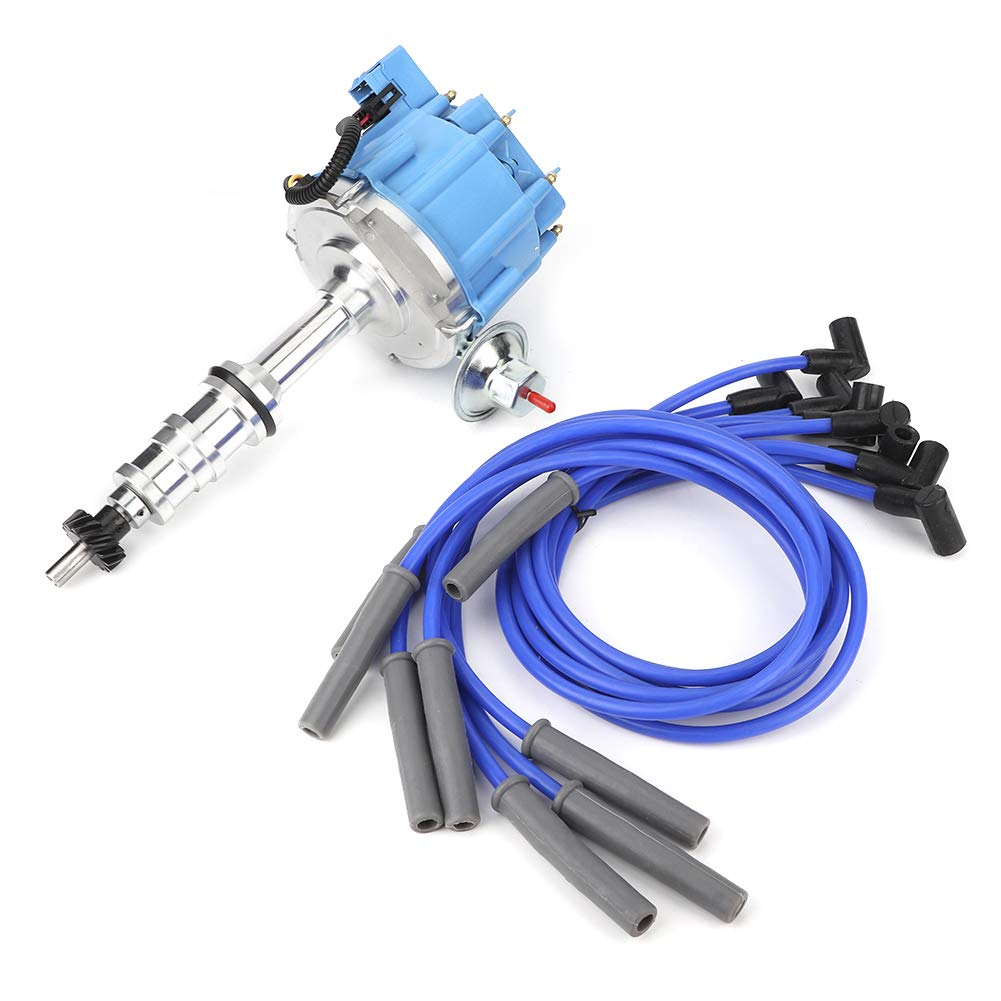 352 Qiilu 1 Distributor 390 406 8 8mm Spark Plug Wire Compatible with Ford FE 332 360 428 RAC-644B 410 427