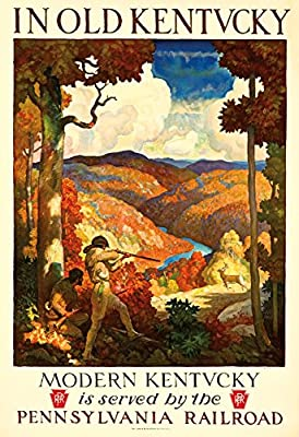 Pennsylvania Railroad - Kentucky Vintage Poster (artist: Newell Convers Wyeth) USA c. 1929 (12x18 Collectible Art Print, Wall Decor Travel Poster)