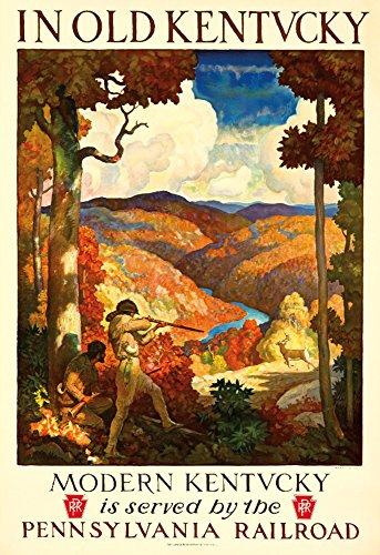 (Pennsylvania Railroad - Kentucky Vintage Poster (artist: Newell Convers Wyeth) USA c. 1929 (12x18 Art Print, Wall Decor Travel Poster))