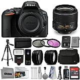 Nikon D5500 Digital SLR Camera Black with 18-55mm VR Lens + 32GB 15PC Accessory Bundle Kit