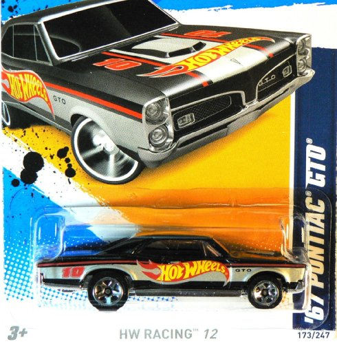 Hot Wheels 2012 Hot Wheels Racing '67 Pontiac GTO Black Card 173