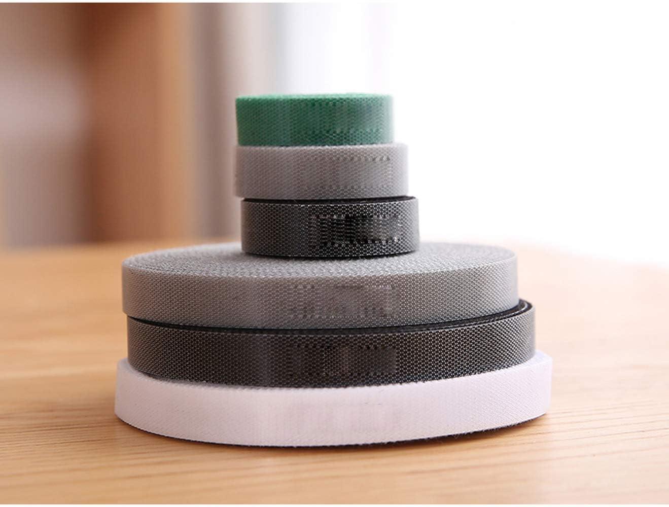 Bridas Velcro,Reutilizables,se Puede Cortar 500cm ajustable cierre de velcro cable ties organizador negro Cinta Velcro organizador cables,gancho y bucle correas,1.2