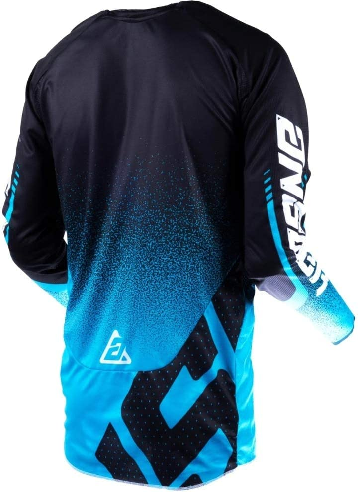 Answer Racing A19 Trinity Mens Off-Road Motorcycle Jersey Black//Cobalt//Flo Orange//Small
