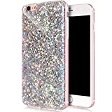 iPhone 6 Glitter Case, UCMDA TPU + PC Variable Color Shinning Cover, Ultra Bling Glitter Sparkle TPU Protective Bumper Case for Apple iPhone 6S/6 (4.7 inch) - Sliver