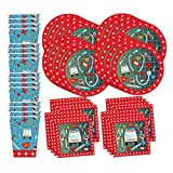 nurse ware - Medical- Doctor & Nurse Birthday Party Supplies Set Plates Napkins Cups Tableware Kit for 16