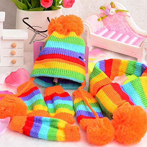 1 Set Pets Pet Dog Puppy Pet Accessories Cats Hats Scarf Socks Warm Comfortable Breathable Christmas Gift Dog Scarf Dog Neckerchief Saliva Towe Dog Bibs Dog Bandana Scarf (Multicolor, XXS) by succeedtop (Image #3)