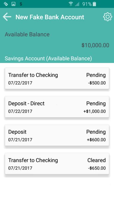 Amazon com: Fake Bank Account: Appstore for Android