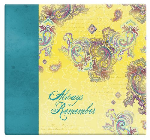 MBI 13.2x12.5 Inch Expressions Post Bound Always Remember Album, Yellow Paisley (848126)