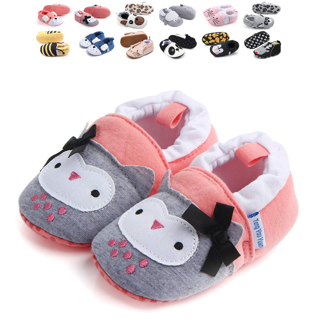 Sawimlgy Infant Baby Boys Girls Anti Slip Sole Walking Slippers Soft Socks Shoes House Moccasins First Crib Shoes Newborn Gift