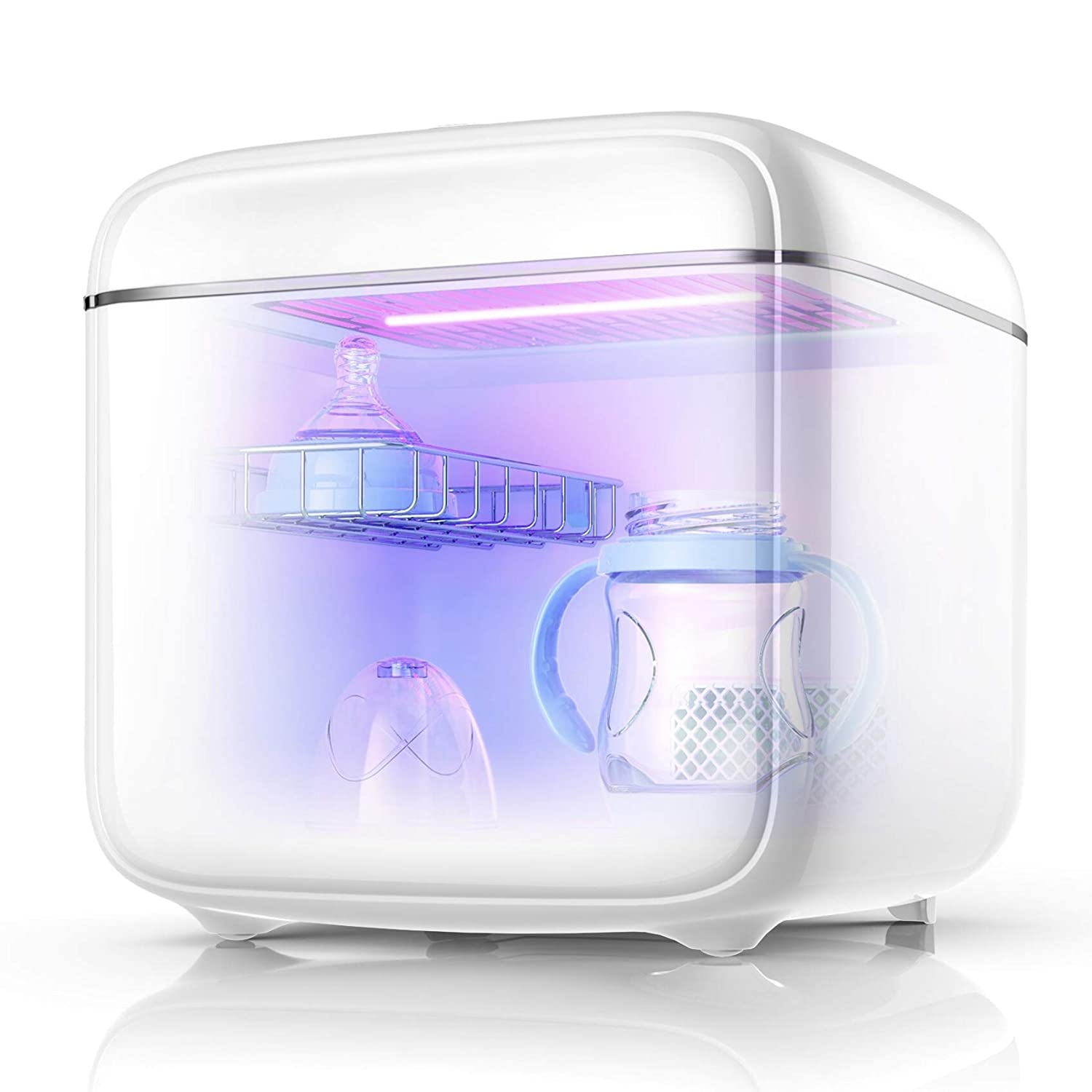UV Sterilizer and Dryer for Baby Bottles and Toys by Coral UV Dual UV Lights New 2020 Model Ultraviolet Electric Sanitizer