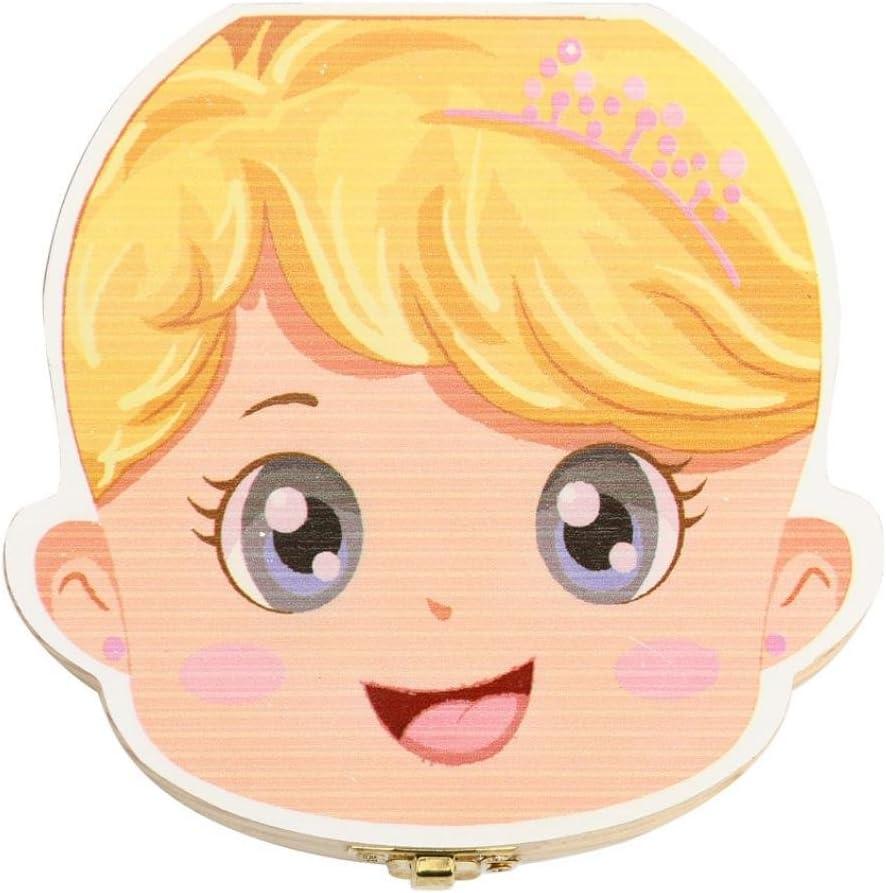 OVERMAL Bo/îte Dents de lait pour B/éb/é Dents de lait Rangement Enregistrer Cadeaux Bo/îte en Bois pour Enfants Gar/çon et Fille Version fran/çaise Multicolore B
