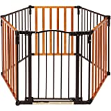 North States 3-in-1 Chesapeake Arched Metal and Wood Play Yard by North States