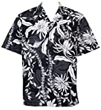 Two Palms Mens Makapuu Cotton Shirt Black 4X