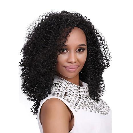 Culater Pelucas Sintéticas cabello mujer llena larga ondulado de pelo sintético 50cm/19