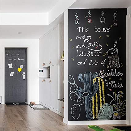 45x100cm Chalkboard Stickers Wall Decal Self Adhesive Diy Reusable Erasable Removable Blackboard Wall Sticker Sticker Amazon Nl