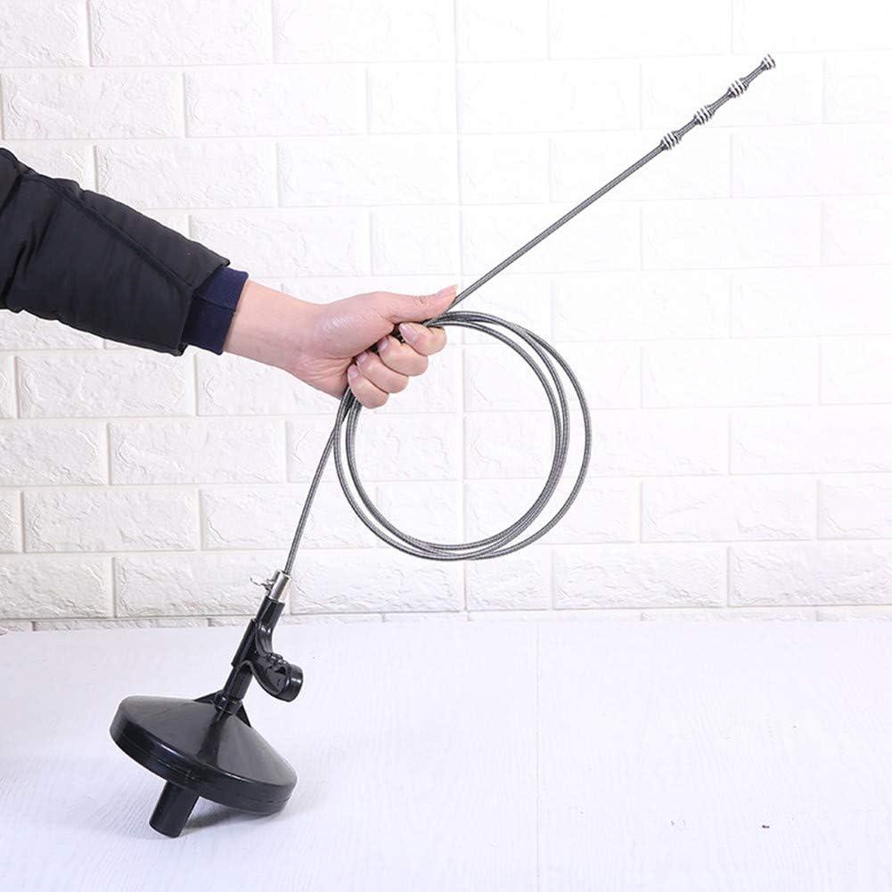 Limpiador de desag/ües//ba/ñeras//fregaderos de Cocina NBLYW Limpiadores de tuber/ías Plumbing Snake Spin Thru Drain Auger con 13 pies de Cable Limpiador de desatascadores de tuber/ías de plomer/ía